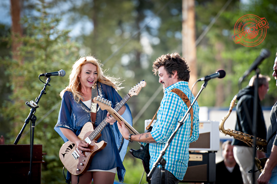 Mike Zito and the Wheel performing live at the Blues From the Top music festival with special guest Samantha Fish.