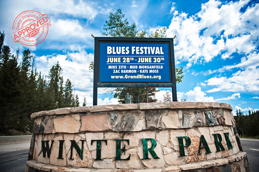 Winter Park, home of the 11th annual 2013 Blues From the Top music festival. Winter Park is in the Colorado mountains and is a fantastic place to hold Blues From the Top! © Casey Drahota